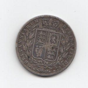 1878 Queen Victoria Silver Half Crown