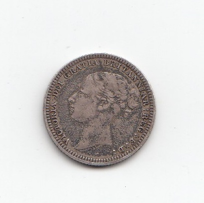 1880 Queen Victoria Silver Sixpence