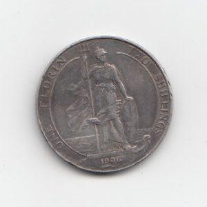 1906 King Edward VII Silver FLorin