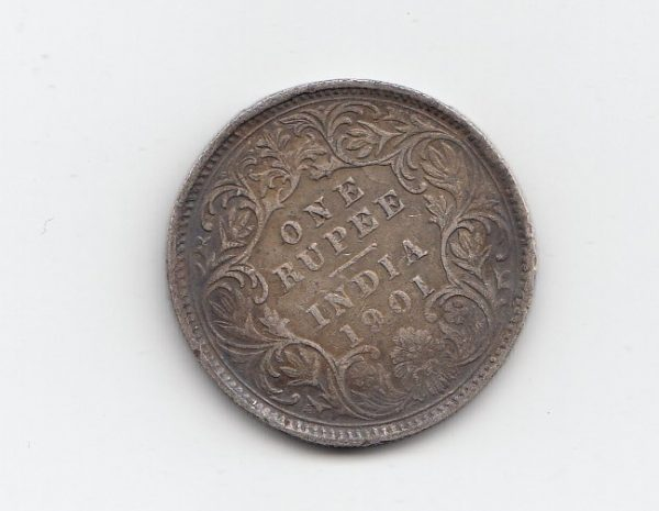 1901 India Silver One Rupee