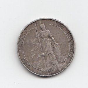 1904 King Edward VII Silver Florin