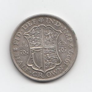 1929 King George V Silver Half Crown