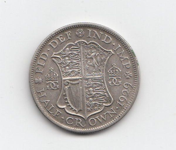 1929 King George V Silver Half Crown