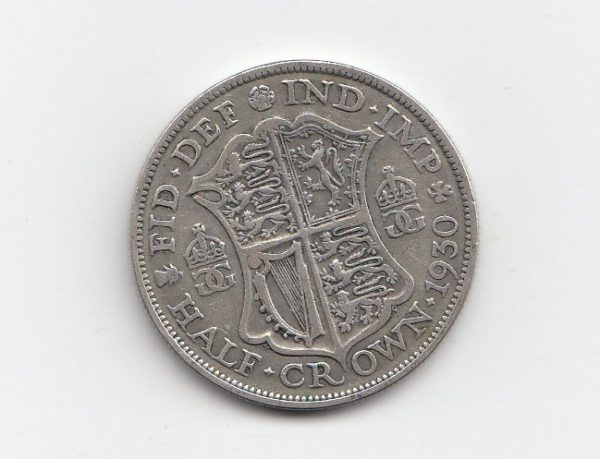 1930 King George V Silver Half Crown