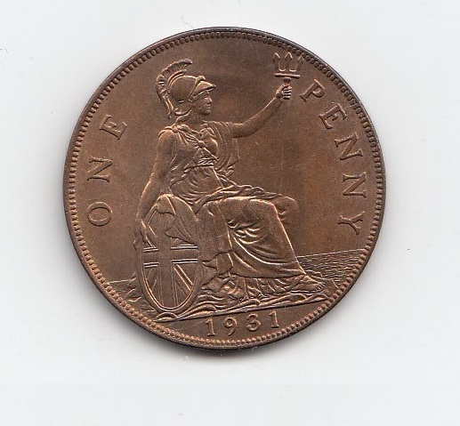 1931 King George V One Penny