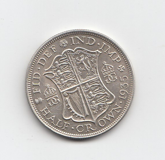 1935 King George V Silver Half Crown