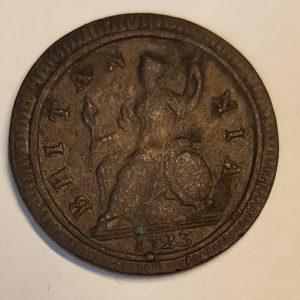 1723 King George III Half Penny