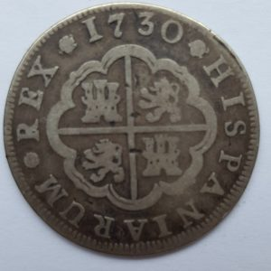 1730 Spain Silver 2 Reales