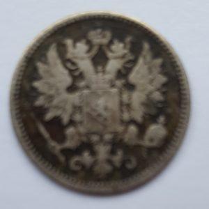 1873 Finland Silver 25 Pennia