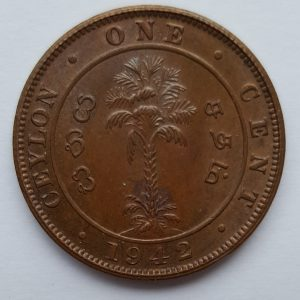 1942 Ceylon One Cent