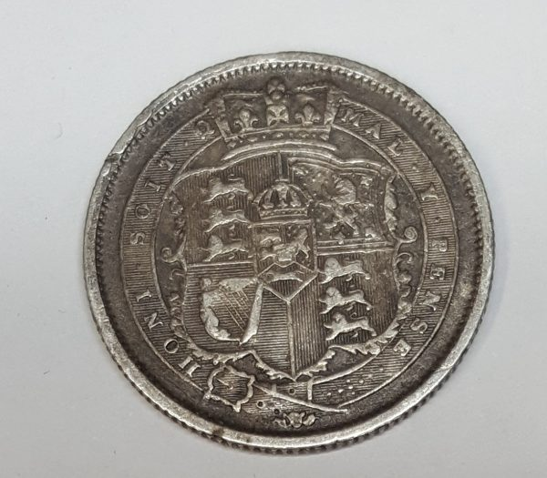 1817 King George III Silver Shilling