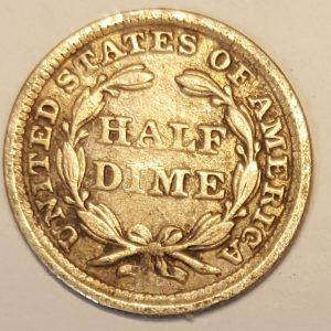 1858 United States Silver Half Dime