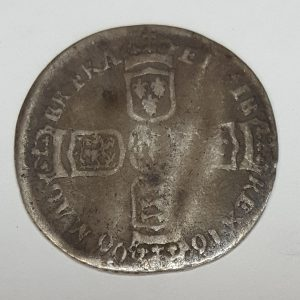 King William III Love Token Silver Sixpence