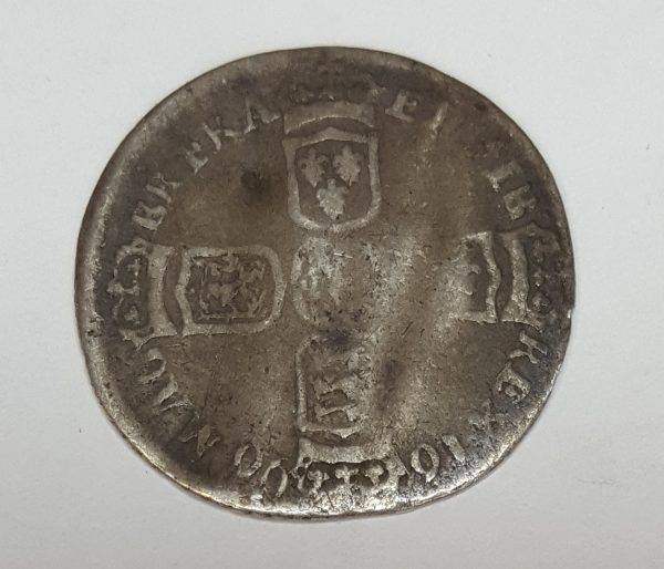 King William III Love Token Silver Sixpence