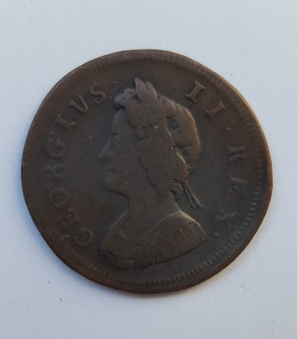 1730 King George II 1/4 Penny