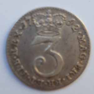 1762 King George III Silver Threepence