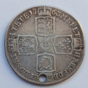 1763 King George III Silver Shilling