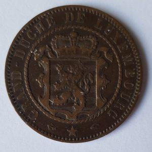 1855 Luxemburg 10 Centimes