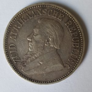 1893 South Africa Silver 2 1/2 Shillings
