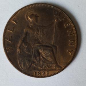 1899 Queen Victoria Half Penny