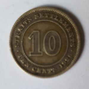 1926 Straits Settlement 10 Cent