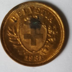 1931 Swiss One Cent