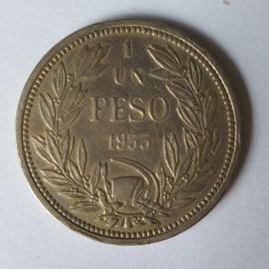 1933 Republic of Chile One Peso