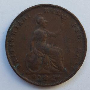 1834 King William IV Farthing