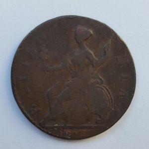 1778 King George III Half Penny