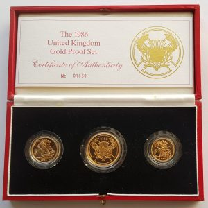 1986 3 Coin Sovereign Set