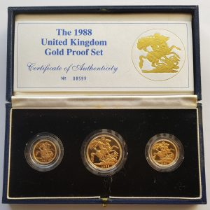 1988 3 Coin Sovereign Set
