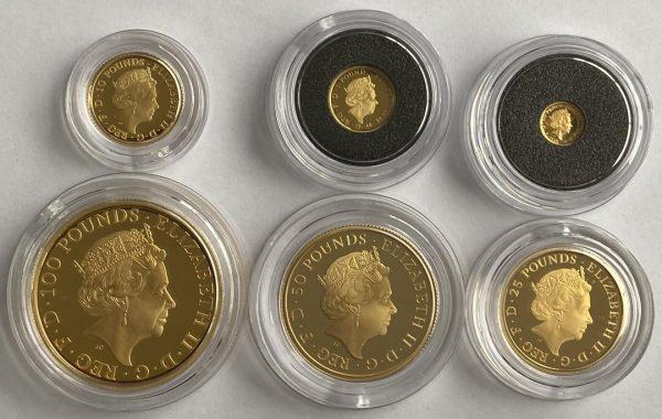 2020 6 Coin Gold Proof Britannia Set
