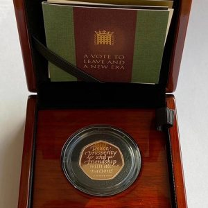 2020 Brexit Gold Proof Fifty Pence