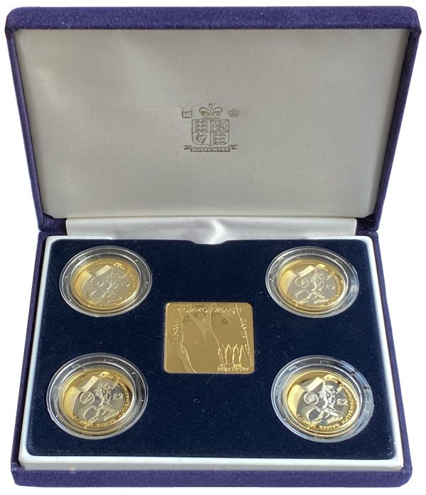 2002 Commonwealth Games Silver Proof Two Pounds Set