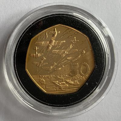 1994 D Day Gold Proof Fifty Pence