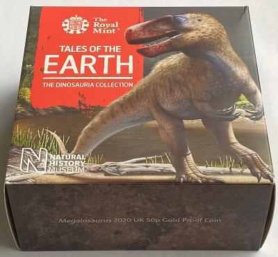 2020 Dinosaur Megalosaurus Gold Proof Fifty Pence Piece