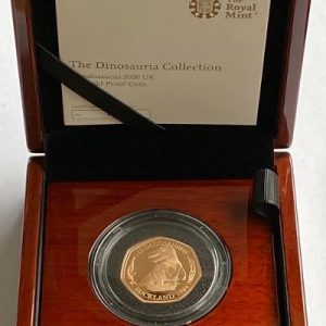 2020 Dinosaur Megalosaurus Gold Proof Fifty Pence Piece