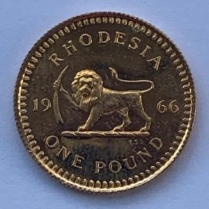 1966 Rhodesia Gold One Pound