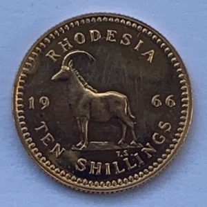 1966 Rhodesia Gold Ten Shillings