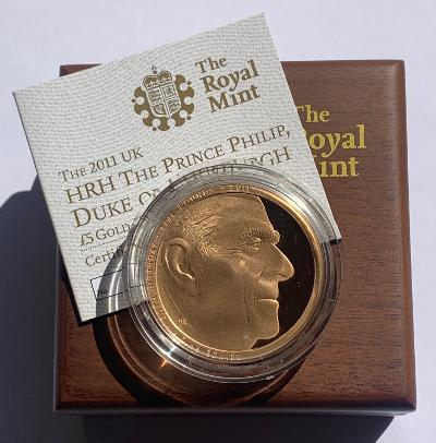 2011 Prince Philip Gold Proof Five Pounds