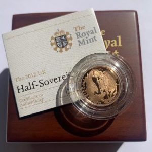 2012 Gold Proof Half Sovereign