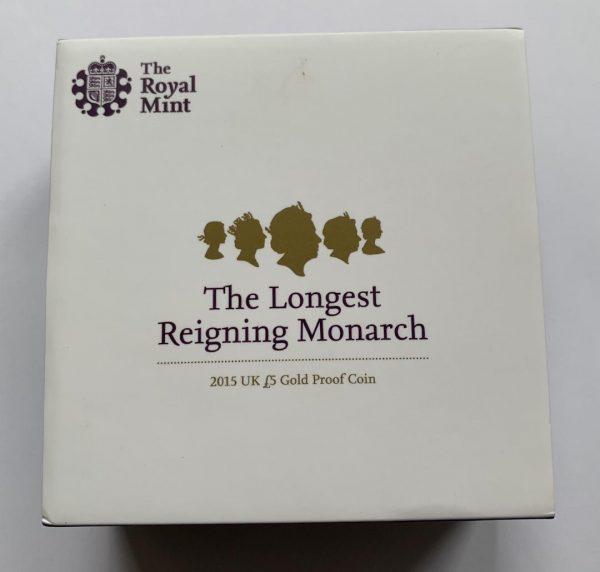 2015 Longest Reigning Monarch Gold Proof Five Pounds