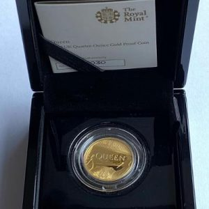 2020 Queen Gold Proof Quarter Ounce