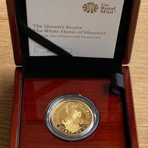 2020 Queens Beasts White Horse of Hanover Gold Proof 1 Ounce