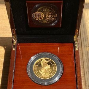 2020 Queens Beasts White Horse of Hanover Gold Proof 5 Ounce