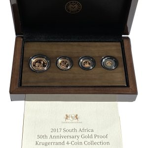 2017 South African 50th Anniversary 4 Coin Gold Proof Krugerrand Set