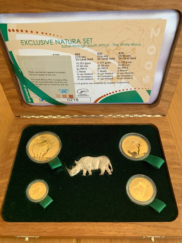 2009 Exclusive White Rhino Gold Proof Natura Set