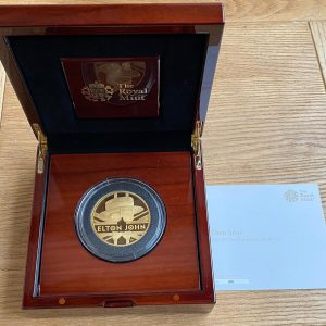 2020 Elton John Gold Proof Five Ounce £500