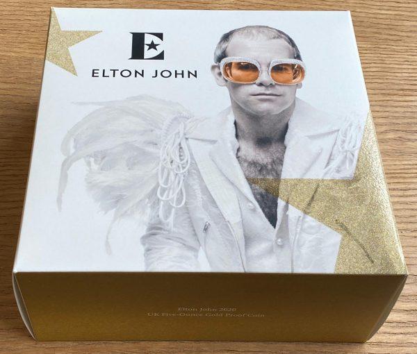 2020 Elton John Gold Proof Five Ounce £500