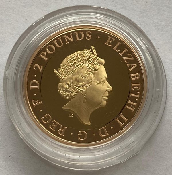 2020 Mayflower Gold Proof Two Pounds